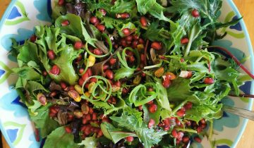 Rip-rawing salads we love: Herb, pistachio and pomegranate salad